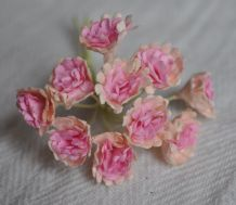 PALE PINK PINK CENTER GYPSOPHILA / FORGET ME NOT Mulberry Paper Flowers